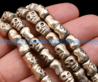 Handmade Copper Skull Beads