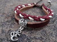 Handmade Leather OM Bracelet