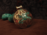 Handmade Pendant -Turquoise and Coral