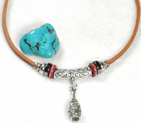 Handmade Rustic Leather Necklace