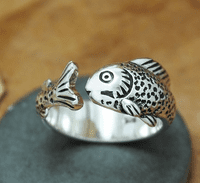 Handmade Silver Ring - Fish