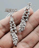 Handmade Sterling Dragon Earring