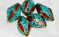 Handmade Turquoise Coral Beads