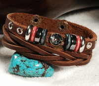 Leather Bead Bracelet - Sold Out