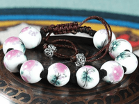 Leather Bead Cross Bracelet