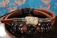 Leather Beaded Bracelet