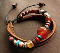 Leather Beads Bracelet - Sold Out