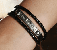 Leather OM Mantra Bracelet - Sold Out