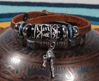 Leather Prayer Wheel Bracelet