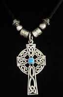 Leather Sterling Cross Necklace