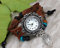 Leather Watch Bracelet - Sold Out