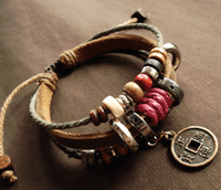 Leather Wrap Bracelet - Sold out