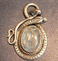 Moon Stone Serpent Pendant - Sold Out