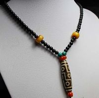 Real Tibetan Old Nine Eyes Necklace
