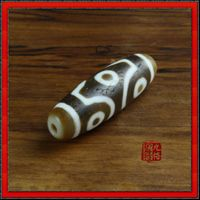 Old Tibetan Six Eyes DZI Bead