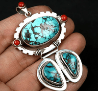 Old Turquoise Pendant