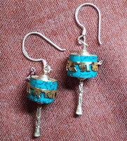 Prayer Wheel Earrings - Sold Out