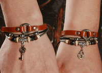 Rustic Leather Bracelet - Lovers