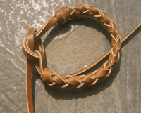 Rustic Leather Cuff Bracelet