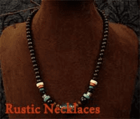 Rustic Leather Necklace