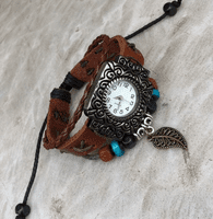 Rustic Leather Watch Bracelet - Sold Out