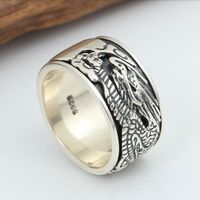 925 Silver Dragon Spinning Ring