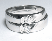 Silver Lover's Ring - Two