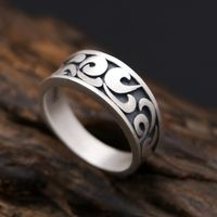 990 Silver Lucky Symbol Ring