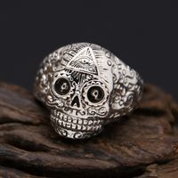 Silver Skull Finger Ring