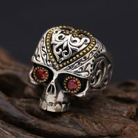 Silver Skull Ring for Men