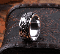 Silver Spinning Ring - Dragon