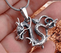 Sterling Silver Dragon Amulet Pendant