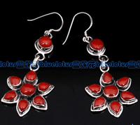Sterling Silver Red Coral Earrings - Sold Out
