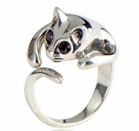 Sterling Silver Ring- Cat