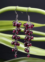 Stirling Garnet Earrings