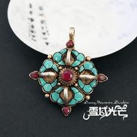 Tibetan 925 Silver Turquoise Dorje Pendant - Sold Out