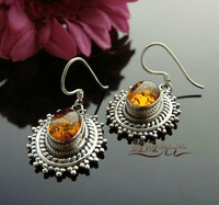 Tibetan Amber Earrings - Sold Out