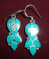Tibetan  Ancient Symbol Earrings - Sold Out