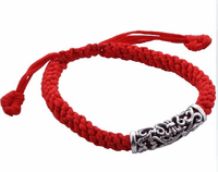 Tibetan Braided Lucky Sterling Bracelet