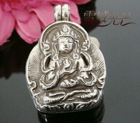 Tibetan Buddha Prayer Box Pendant - Sold out