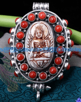 Tibetan Buddha Prayer Box Pendant
