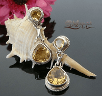 Tibetan Citrine Earrings