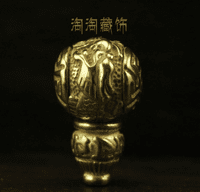 Tibetan Copper Dragon Guru Beads