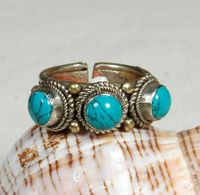 Tibetan Copper Turquoise Ring