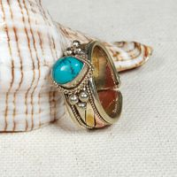 Tibetan Copper Turquosie Ring