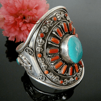 Tibetan Coral Turquoise Bracelet - Sold Out