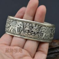 Tibetan Sterling Dragon Bracelet