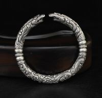 Handmade 999 Silver Dragon Bangle