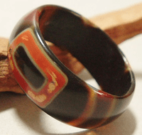 Tibetan dZi Ring - Sold