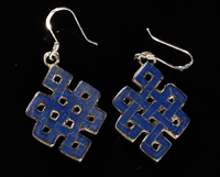 Tibetan Endless Knot Earrings - Sold Out